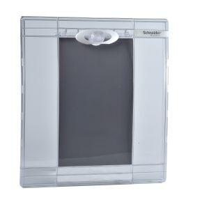 Pragma - porte transparente - pour coffret 1 x 13 modules