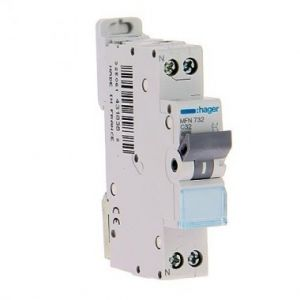 Disjoncteur Hager 32A - Borne à Vision-EL - MFN732 - Hager