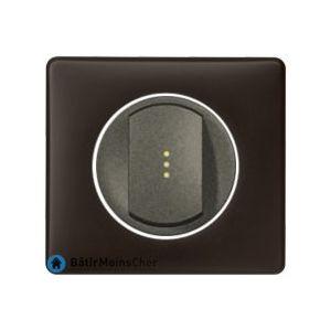 Poussoir lumineux Céliane graphite - Plaque Basalte