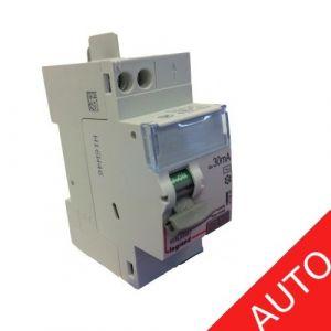 Inter différentiel vis/auto 63A type AC sans adaptateur - Départ haut