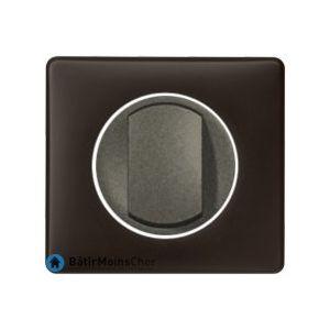 Poussoir Céliane graphite - Plaque Basalte