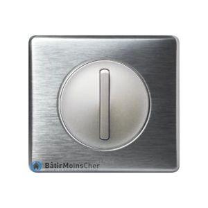 Va et vient doigt étroit Céliane titane - Plaque aluminium