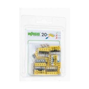 Boîte de 20 bornes Wago 5 entrées - Série 2273