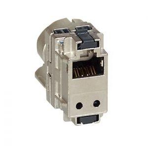 Connecteur RJ45 catégorie6 STP pour coffrets Double Play et Basique avec brassage X 4