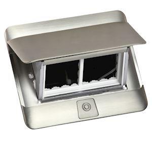 Prise escamotable Pop up mobilier 4 modules à équiper livré avec kit d'installation - inox mat - 654000 - Legrand