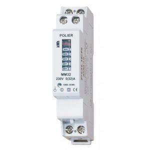 Compteurs électriques modulaires monophasés 32 A Monophasé