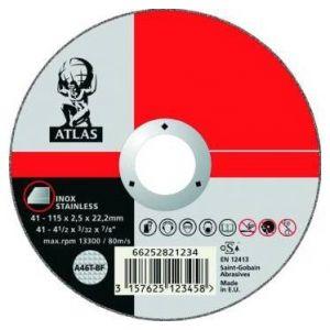 25 disques à tronçonner métal + inox D125 1,6MM