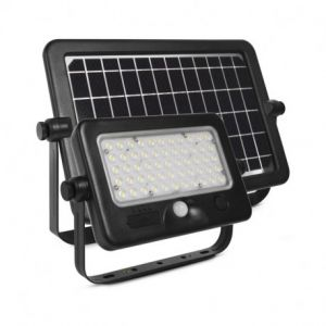 Projecteur LED Solaire avec Détecteur 10W 4000K IP44 + Chargeur USB