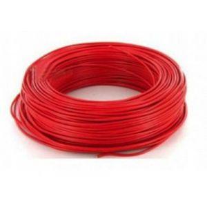Fil H07VU 2.5mm² Rouge en 100m