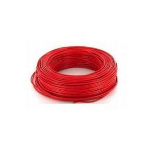 Fil H07VU 6mm² Rouge en 100m