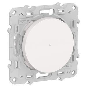 Poussoir variateur connecté Odace Wiser Bluetooth - blanc
