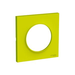 Plaque 1 poste Odace Styl - Vert chartreuse