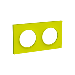 Plaque 2 postes Odace Styl - Vert chartreuse
