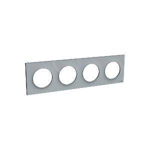 Plaque 4 postes Odace Styl - Gris pierre