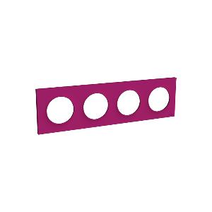 Plaque 4 postes Odace Styl - Violine
