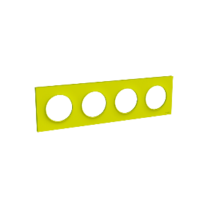 Plaque 4 postes Odace Styl - Vert chartreuse