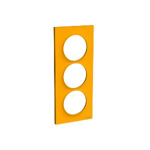Plaque 3 postes Odace Styl entraxe 57mm - Ambre