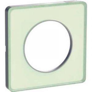 Plaque 1 poste Odace Touch - Translucide vert