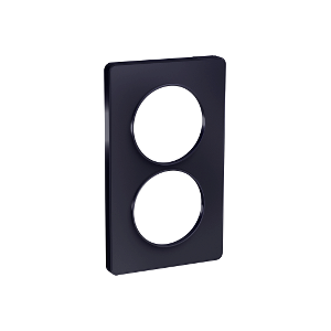 Plaque 2 postes Odace Touch entraxe 57mm - Anthracite