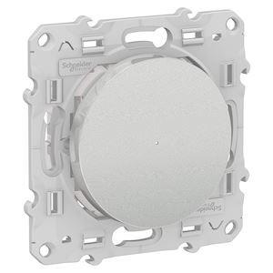 Poussoir variateur connecté Odace Wiser Bluetooth - Alu