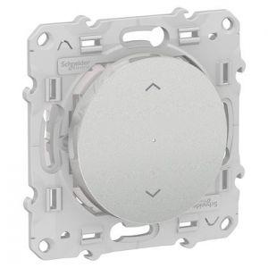Interrupteur Volets-roulants connecté Odace Wiser Bluetooth - Alu