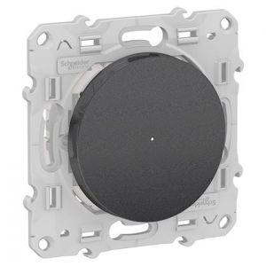 Poussoir variateur connecté Odace Wiser Bluetooth - Anthracite
