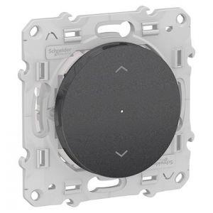Interrupteur Volets-roulants connecté Odace Wiser Bluetooth - Anthracite