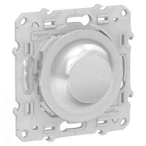 Variateur Rotatif connecté Odace Wiser Bluetooth - Alu