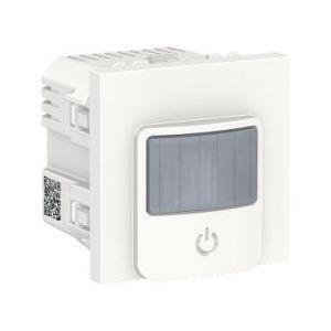 Unica - détecteur de mouvements + poussoir - 230V - 10A - Blanc - méca seul