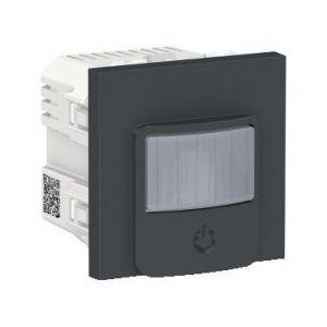 Unica - détecteur de mouvements + poussoir - 230V - 10A - Anthracite - méca seul