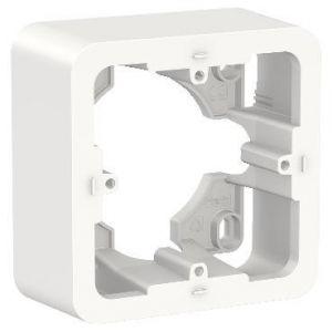 Unica - boîte en saillie - Blanc - 1 poste
