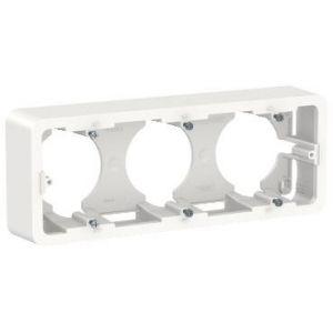 Unica - boîte en saillie - Blanc - 3 postes