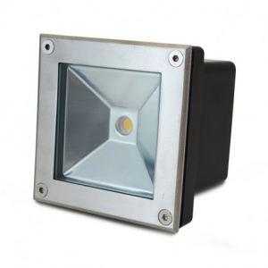 Spot LED Encastrable Sol Carré Inox 304 5W 3000K