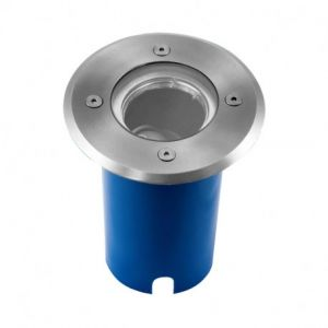 Support de Spot LED Encastrable Sol + Douilles GU10 & GU5.3 Inox 304 L