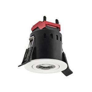 Spot LED encastré DL Cover - 6W - 3000/4000°K - 480lm - Rond - Lames ressorts - Dimmable - Blanc Orientable Ip65