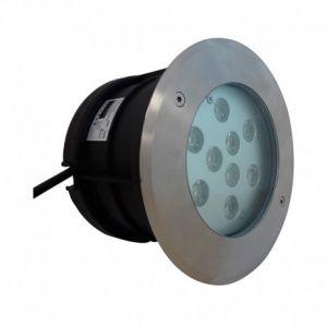 Spot LED Encastrable Sol Rond Inox Ø166MM 10W 4000K IP67