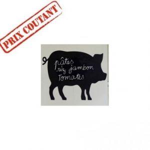 Sticker ardoise, modèle cochon