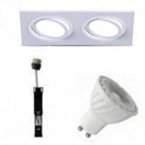 Kit-Spot-Orientable-Blanc-Carré-Double