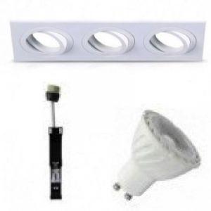 Kit-Spot-Orientable-Blanc-Carré-Triple