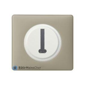 Prise téléphone en T Céliane blanc - Plaque Argile