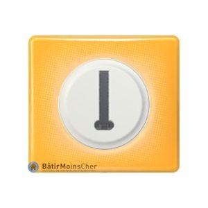 Prise téléphone en T Céliane blanc - Plaque Today jaune