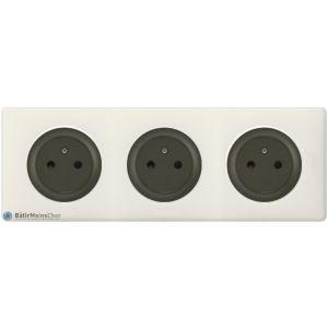 Triple prise Surface Céliane graphite - Plaque Craie