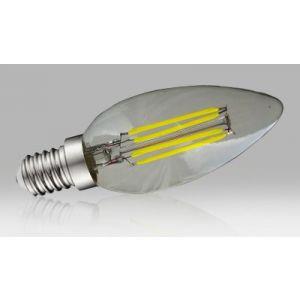 Ampoule à filament LED flamme E14 - 4W blanc neutre