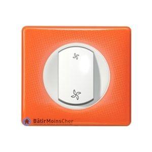 Interrupteur de VMC Céliane blanc - Plaque 70's orange