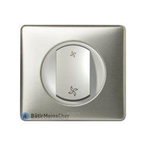 Interrupteur pour VMC Céliane Titane - Plaque titane