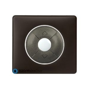 Interrupteur pour volet roulant Céliane graphite - Plaque Basalte