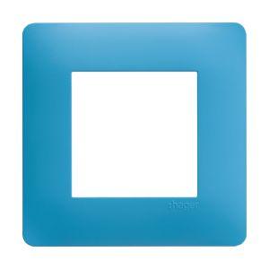 Plaque 1 poste Essensya bleu émail