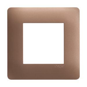 Plaque 1 poste Essensya bronze