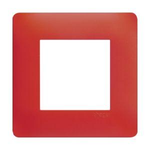 Plaque 1 poste Essensya rouge émail