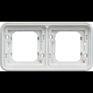 Support encastré 2 postes  horizontal Cubyko blanc
